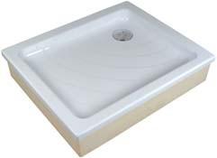 Zuhanytálca ANETA 75x90 EX white