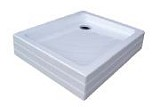 Zuhanytálca ANETA 75x90 PU white