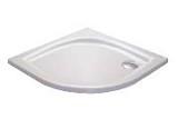 Zuhanytálca ELIPSO-100 LA white