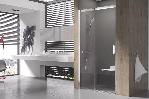 Matrix MSD2-110 Jobbos Krómhatású+Transparent - kétrészes, csúsztatható zuhanyajtó