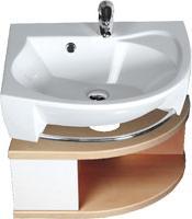 SDU Rosa szekrény mosdó alá L Nyír/Fehér