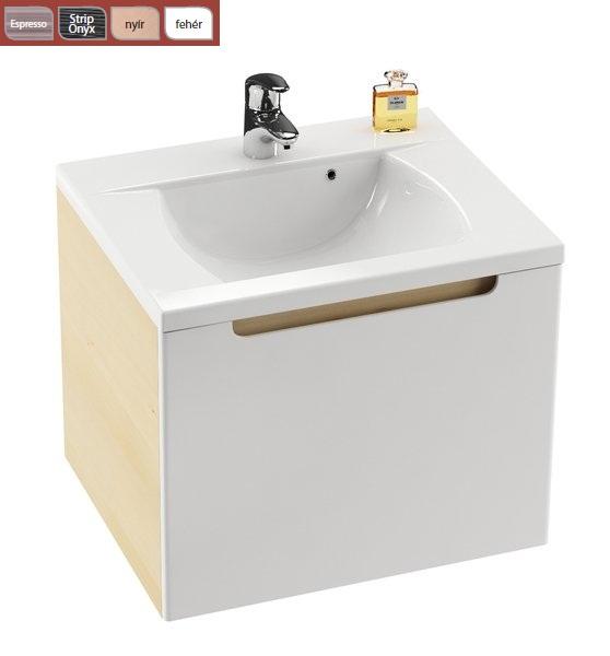 SD 600 Classic szekrény a mosdó alá Nyír/Fehér Kifutó termék (készlet erejéig)