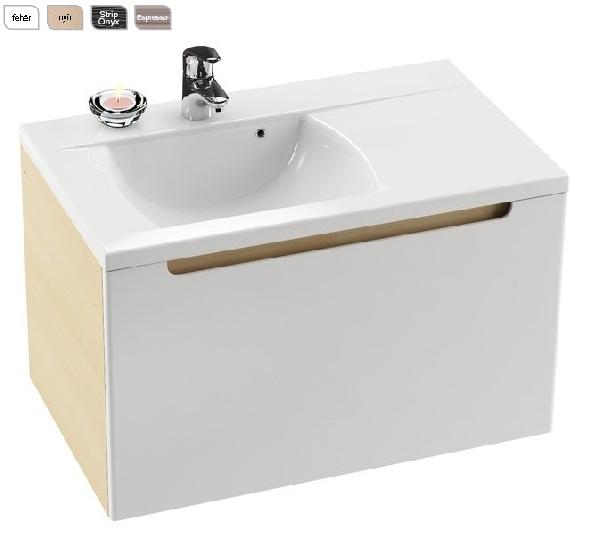 SD 800-jobb Classic szekrény a mosdó alá (fehér/fehér) - Kifutó termék (készlet erejéig)