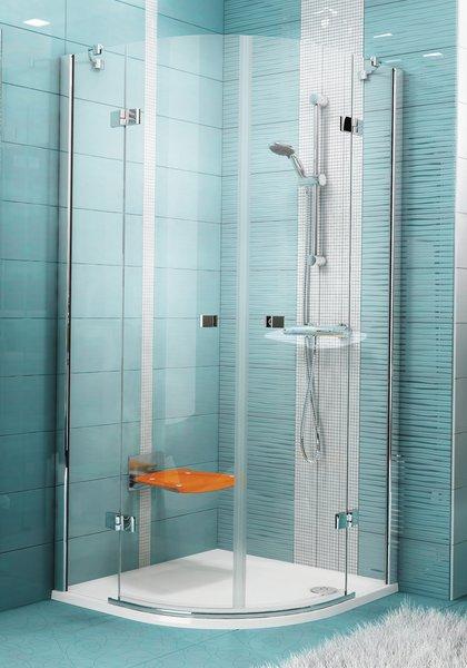 Smartline SMSKK4-80 Króm+Transparent négyelemes negyedköríves zuhanykabin emelő zsanérokkal