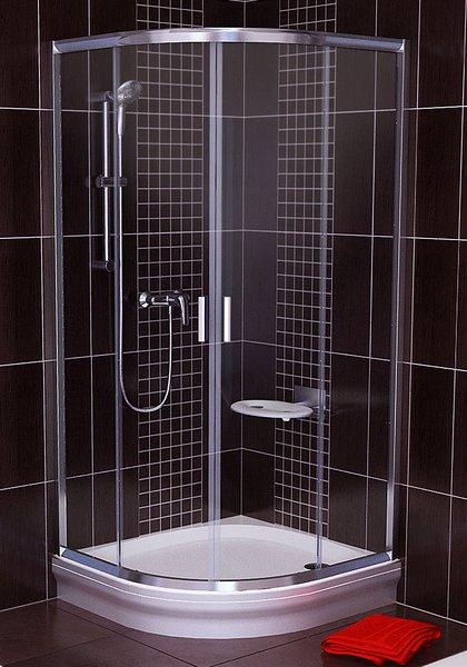 Blix BLCP4-90 négyrészes negyedköríves zuhanykabin Szatén+Transparent