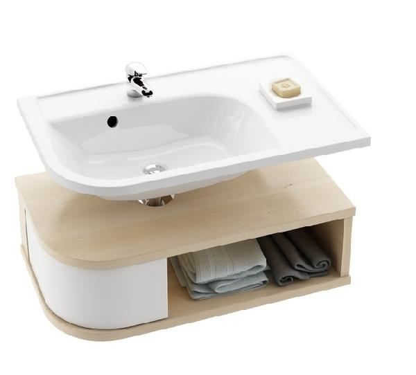 SDU Praktik U szekrény mosdó alá R jobbos Fehér/Fehér