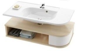 SDU Praktik S szekrény mosdó alá L Fehér/Fehér