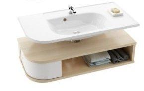 SDU Praktik S szekrény mosdó alá R Fehér/Fehér