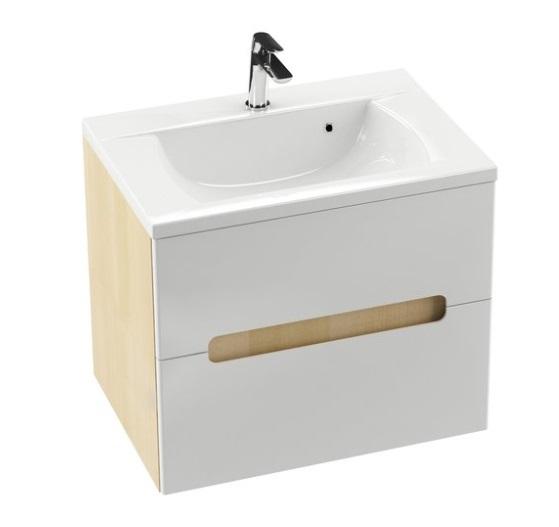 SD 600 Classic szekrény a mosdó alá Latte/Fehér