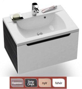 SD-700 Classic szekrény a mosdó alá Strip Onyx/Fehér