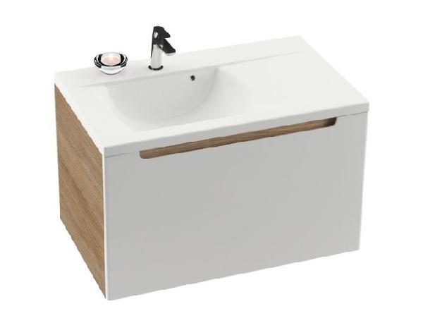SD 800-bal Classic szekrény a mosdó alá (cappuccino/fehér) - Kifutó termék (készlet erejéig)