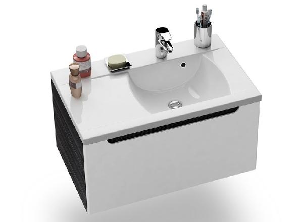 SD-800 L balos Classic szekrény a mosdó alá Strip Onyx/Fehér