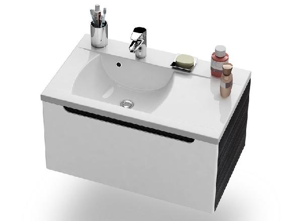 SD-800 R jobbos Classic szekrény a mosdó alá Strip Onyx/Fehér