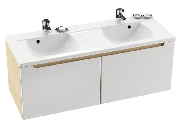 SD 1300 szekrény a Cl duplamosdó alá S-Onyx/Fehér