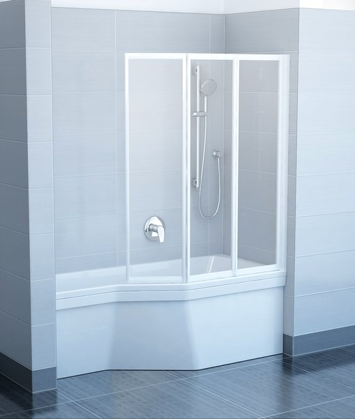VS3 100 Fehér+Transparent kádparaván