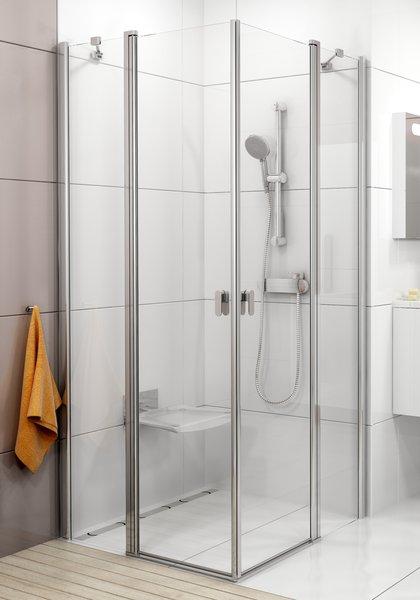 Chrome CRV2-90 Szatén+Transparent zuhanykabin (1 oldal)
