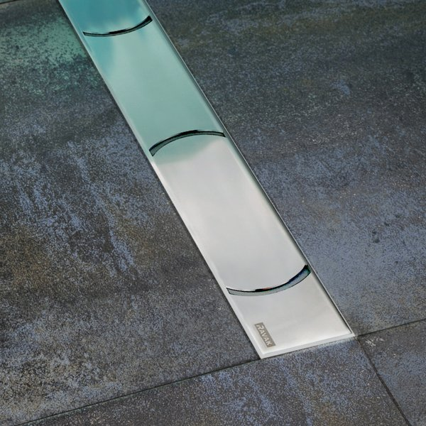 RAVAK Chrome 300 - Rozsdamentes acél zuhanyfolyók