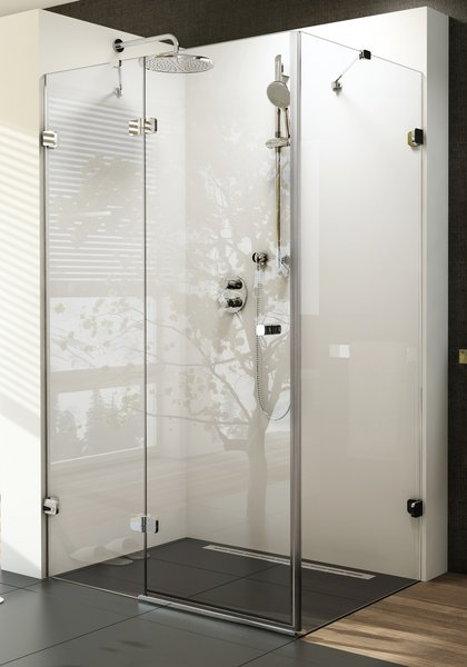 Brilliant BSDPS-100x100 balos Króm+Transparent zuhanykabin