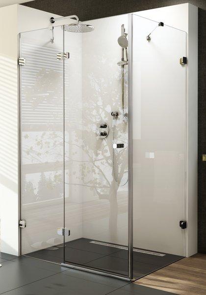 Brilliant BSDPS-100x80 balos Króm+Transparent zuhanykabin