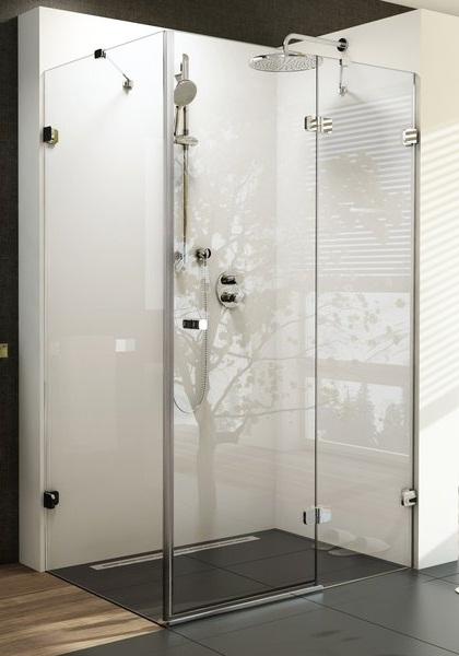 Brilliant BSDPS-100x80 jobbos Króm+Transparent zuhanykabin