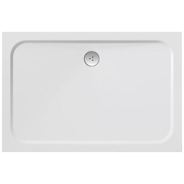 Zuhanytálca GIGANT PRO 120x90 CHROME fehér