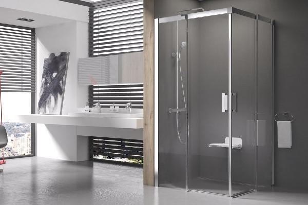 Matrix MSRV4-100 Szatén+Transparent - elcsúsztatható, négyrészes zuhanykabin