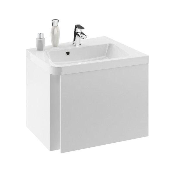 Fürdőszobai sarok szekrény mosdó alá SD 10° 550 L fehér