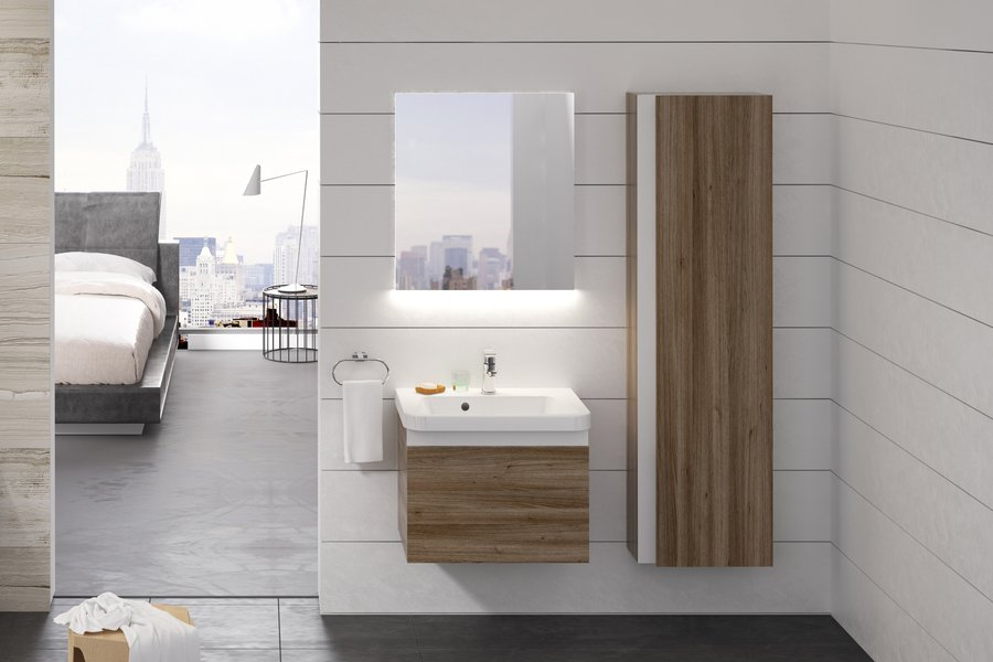 Fürdőszobai faliszekrény SB 10° 450 sötét dió