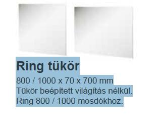 Tükör Ring 800 fehér