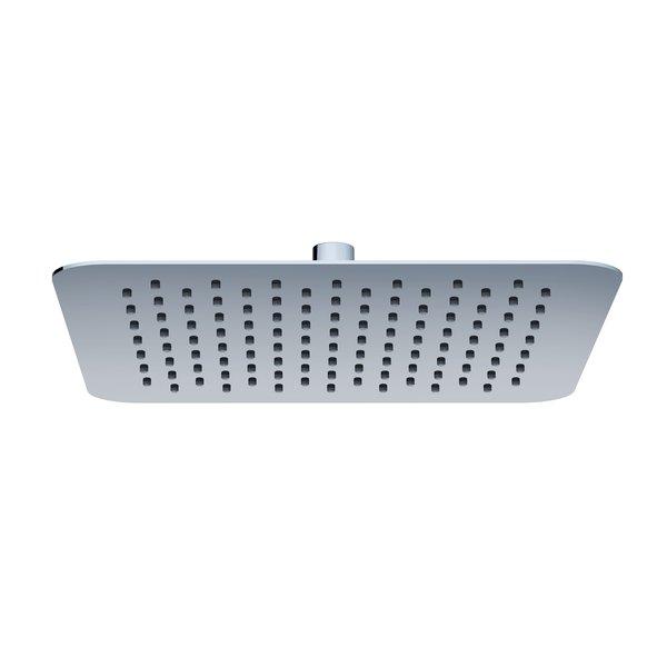 Esőztető Chrome zuhanyfej - Slim négyzetalapú, 300 mm - 982.00