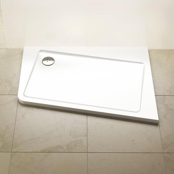 Ravak Asymetric Pro 10° zuhanytálca 120x90 B - fehér / balos
