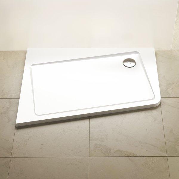 Ravak Asymetric Pro 10° zuhanytálca 120x90 B - fehér / jobbos