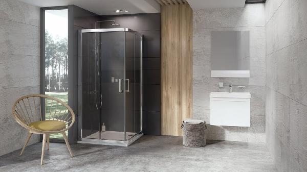 Ravak 10° 10RV2-80 zuhanykabin krómhatású+Transparent