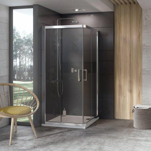 Ravak 10° 10RV2-90 zuhanykabin krómhatású+Transparent