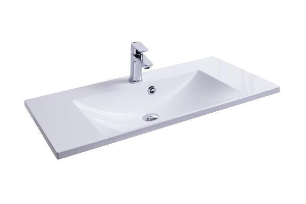 Flat 900 mosdó (fehér) nyílással